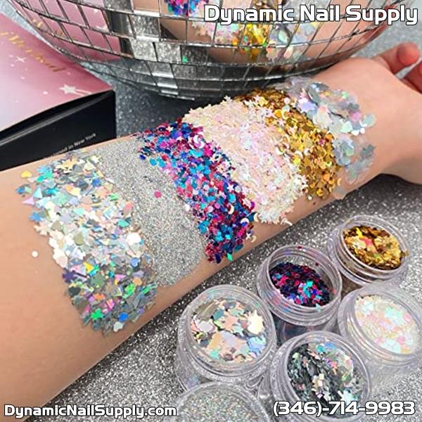 Review for iMethod 6 Jars Face Glitter including Fine Glitter and Chunky Glitter Holographic Glitter for Festival Makeup
