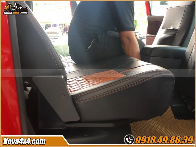 Garage độ ghế chỉnh điện cho xe bán tải ở HCM