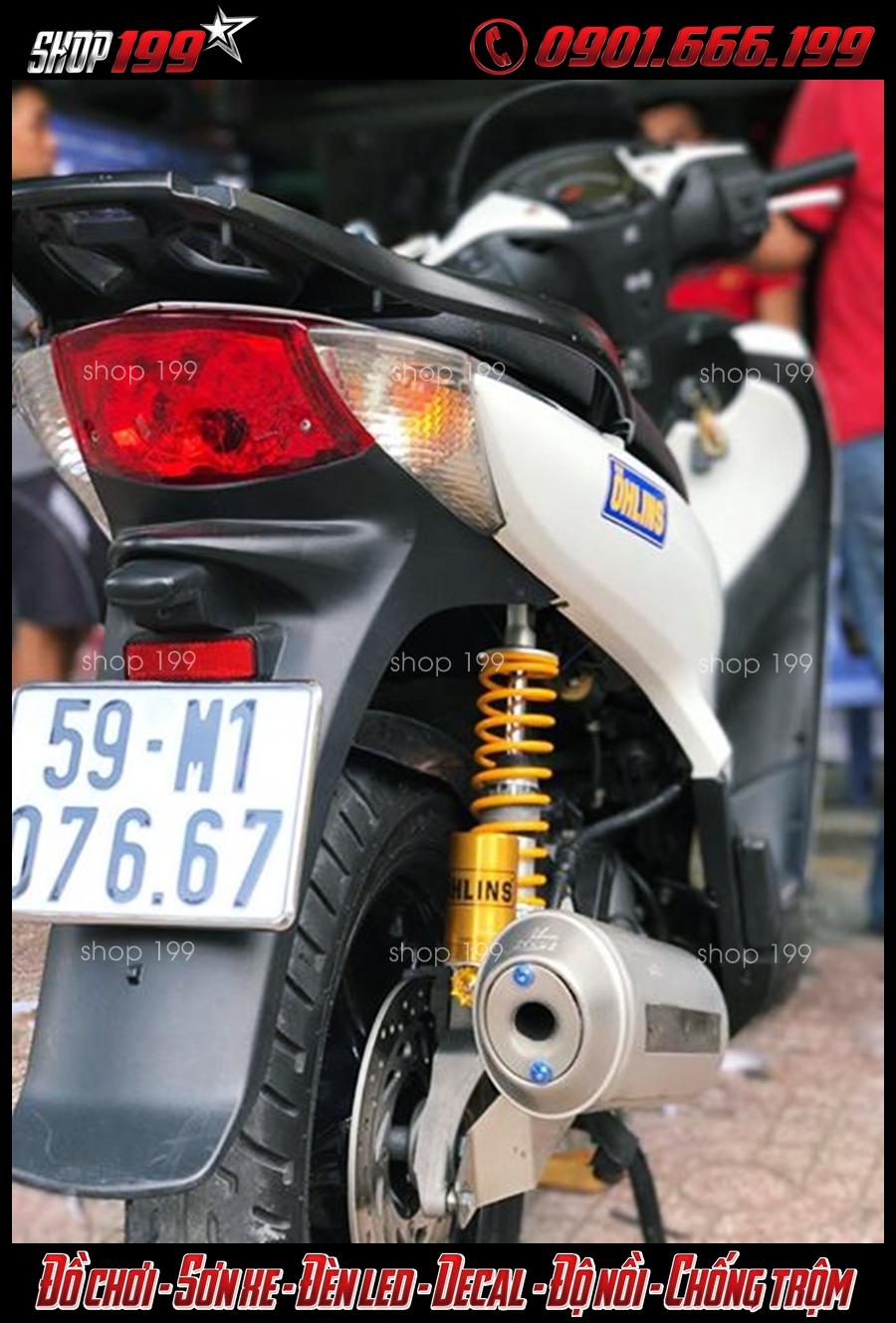Honda SH độ pô 4road và phuộc Ohlins cực đẳng cấp tại HCM