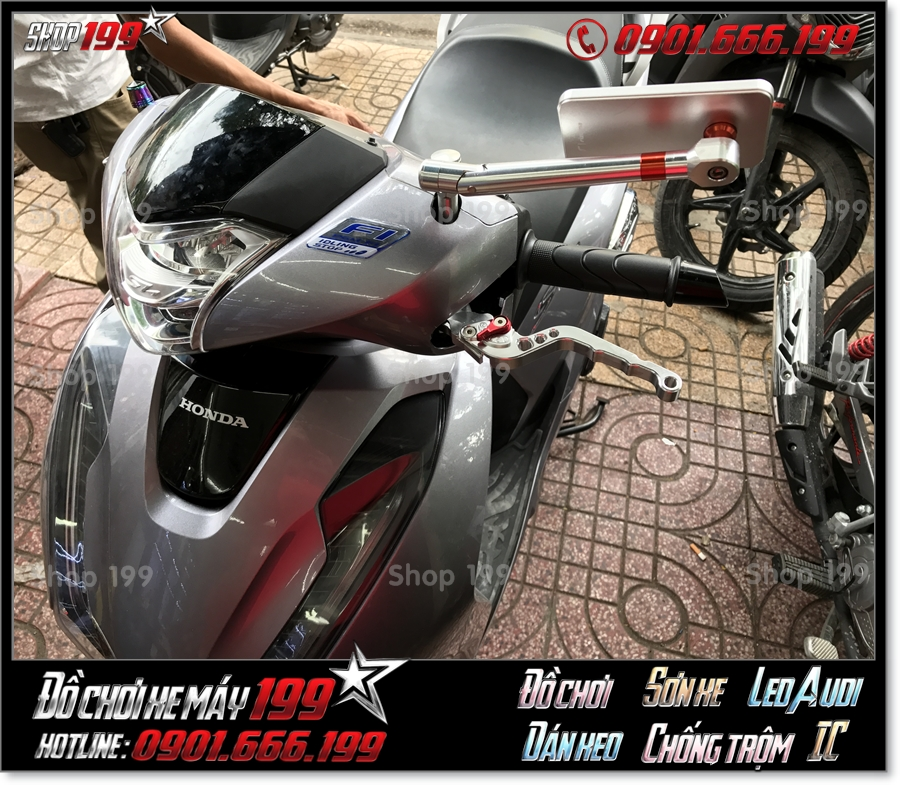 Image Honda SH 125 150 2018 2019 2020 độ kiếng chiếu hậu Rizoma, thay đồ chơi độ đẹp mắt giá rẻ tại TP HCM